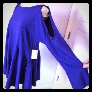 Violet free people long sleeve tunic NWT